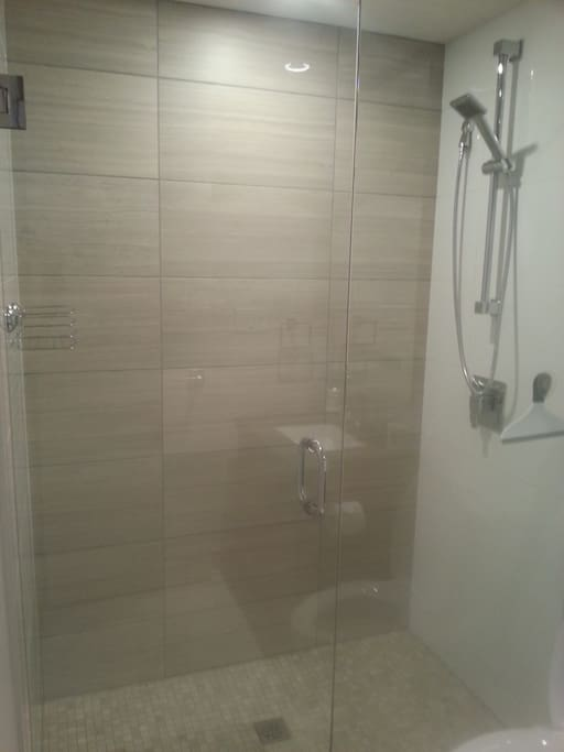 Super shower head and double sized shower