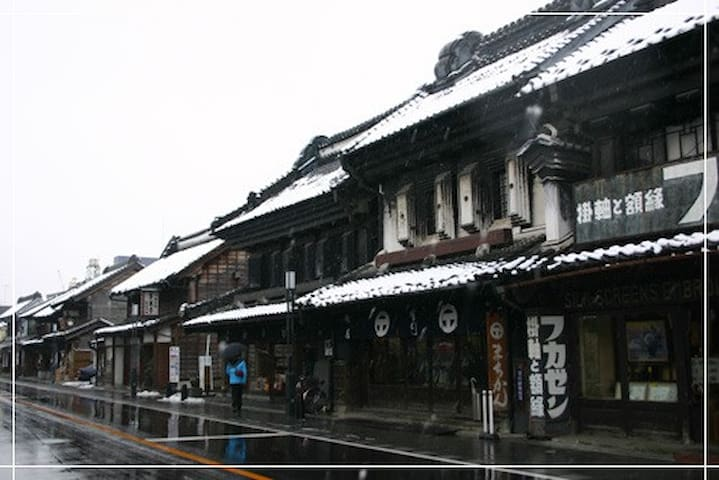 Cityscape of built development of small Edo Kawagoe