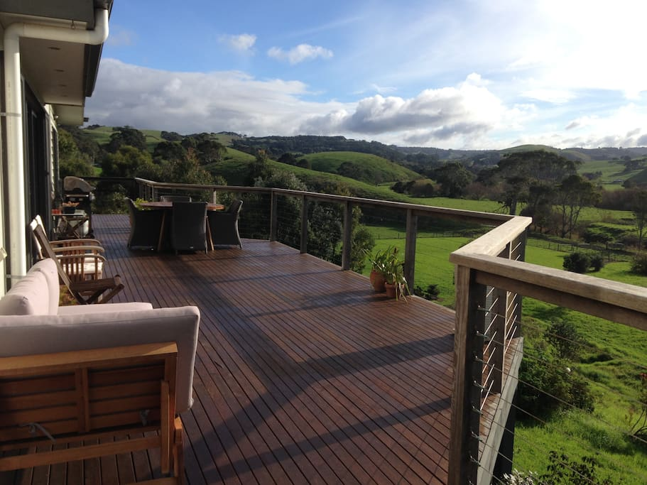 Massive deck to relax on