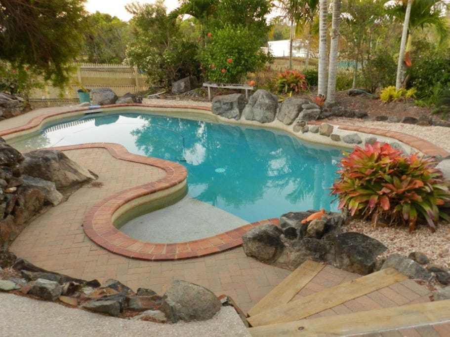 Enjoy a cool dip in the landscaped pool.