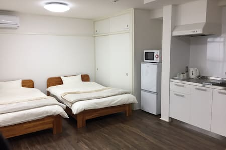 Easy access to JR, city center + Wifi - Hiroshima-shi