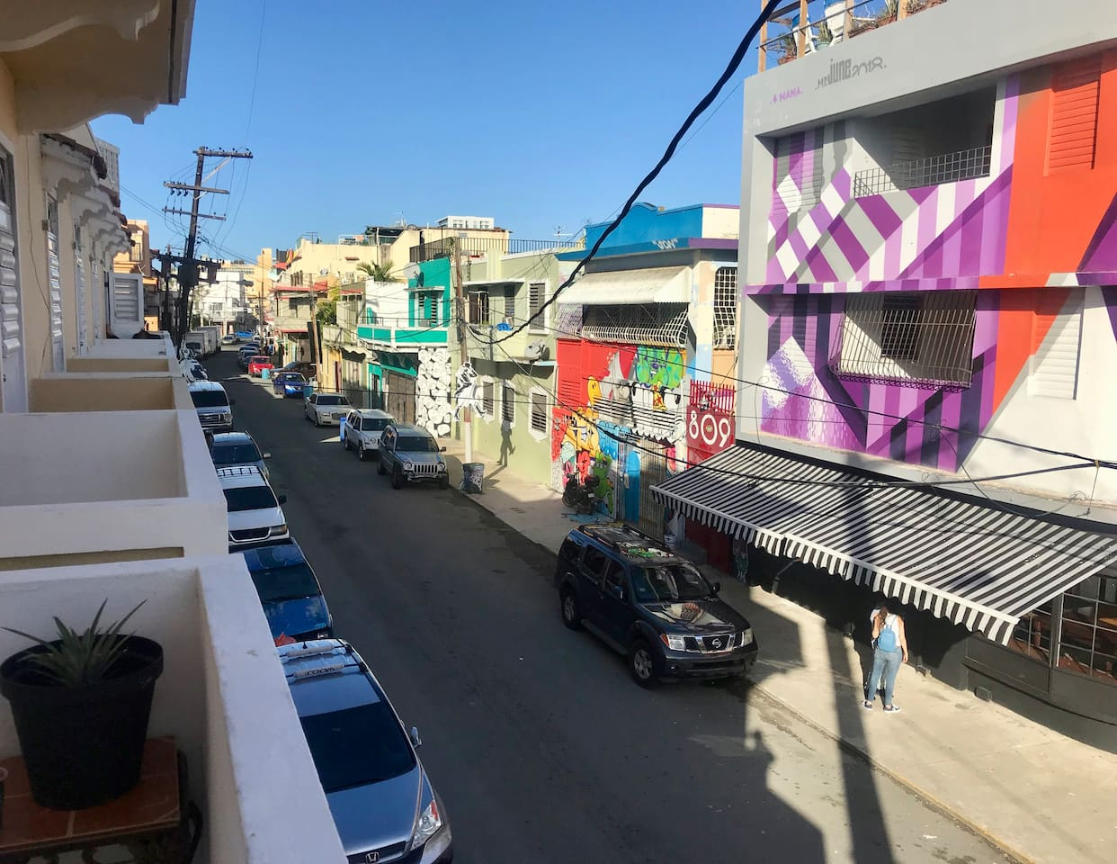 Street view from the balcony