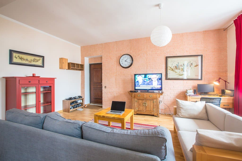 The apartment is connected to Cable TV and high speed wireless internet.