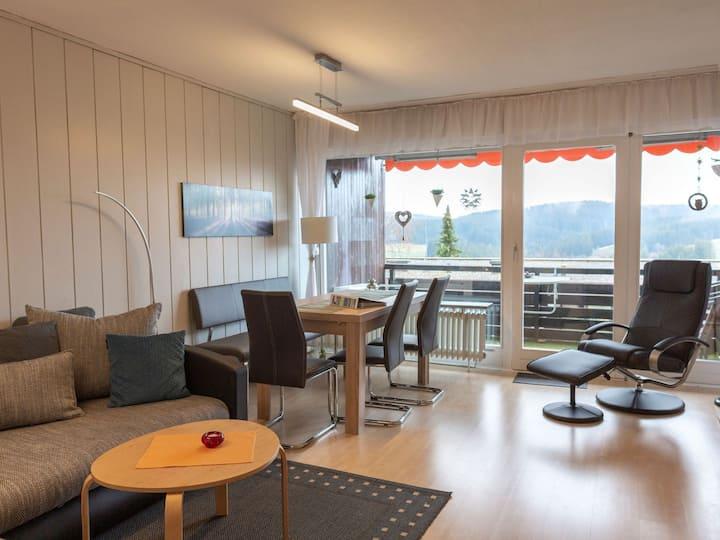 Appartementvermietung Terrassenpark Schonach, (Schonach), NR-Ferienwohnung Typ A, 1 Schlafraum, 1 Wohn-/Schlafraum, max. 4 Personen