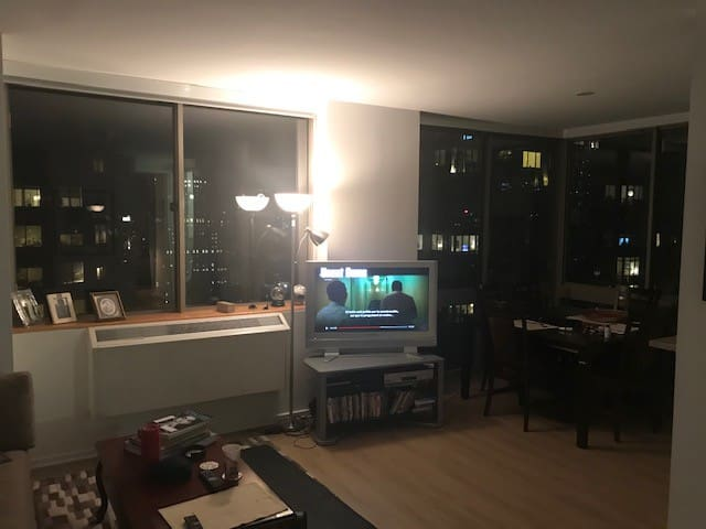 Chelsea apartment with city views in luxury bldg