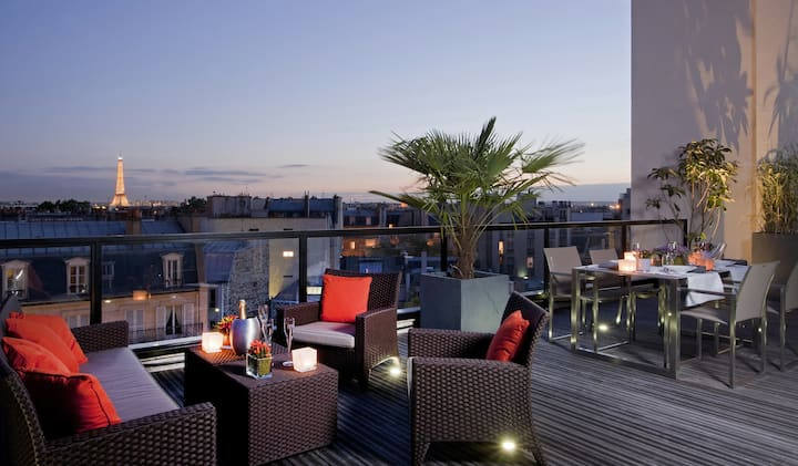 Splendid Suite Terrace with a 360° view on Paris