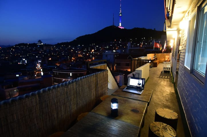 4 beds) Namsan Hbc Rooftop PhotoPark Guest House