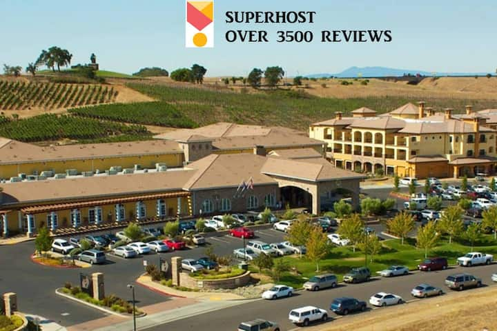 **Studio sleeps four at Napa's Finest Resort