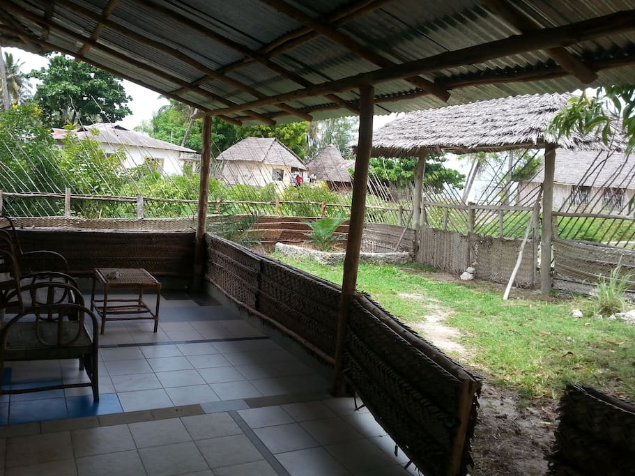 Outside veranda, with sitting,chillout space