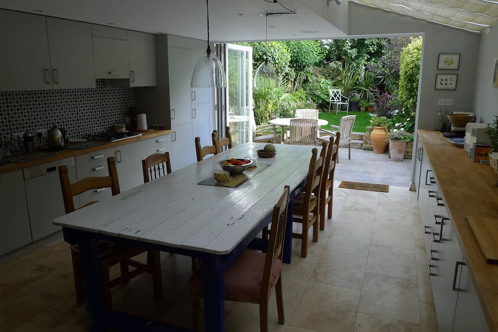 Kitchen/Dining Room with table for 10