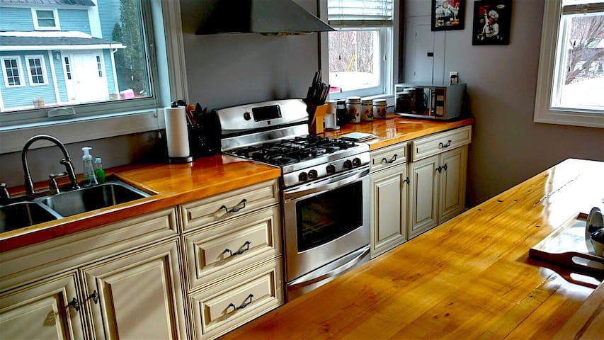 Maple counter tops with tap holes!
