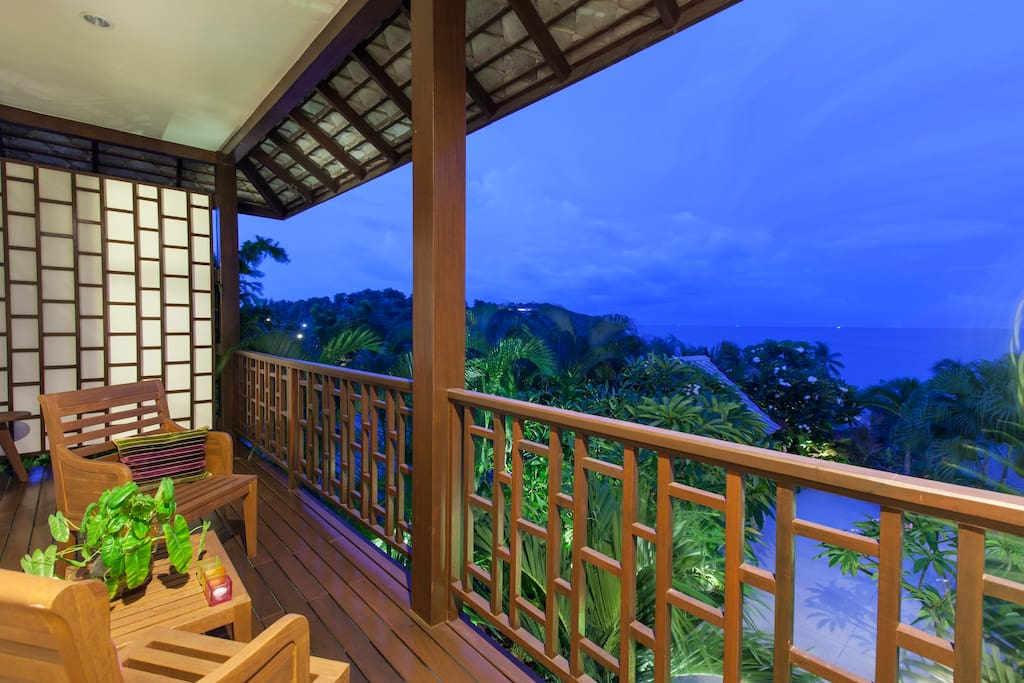 Sea view over the Gulf of Thailand from the Guest MASTER private balcony!