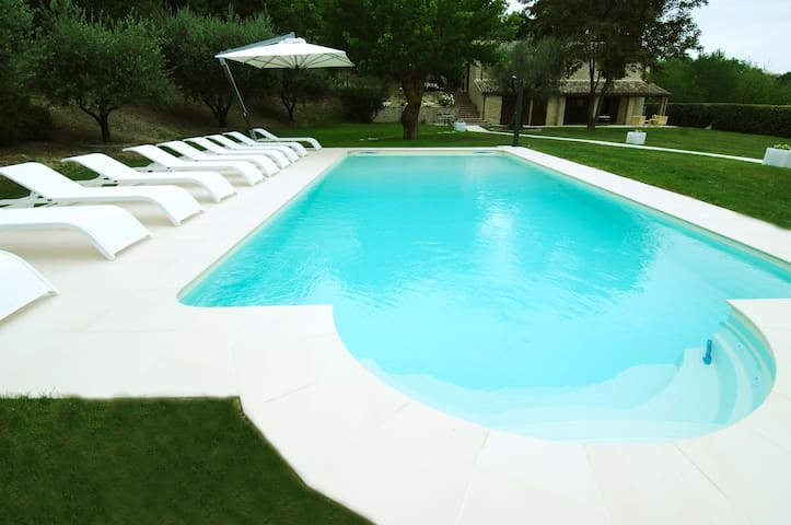 Villa Anna heated pool - Sant'Ippolito - Vila