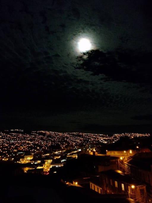 De noche la vista es un espectáculo