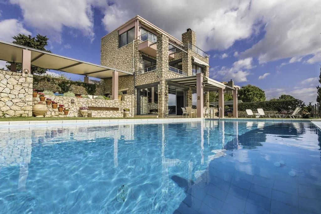 Villa Christy with private pool and sea view