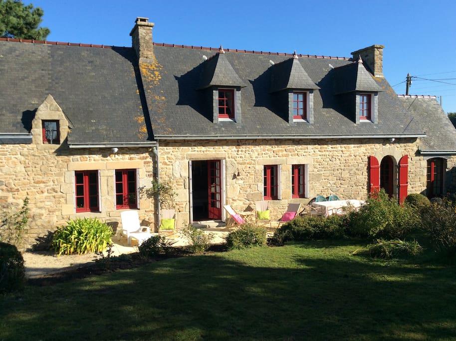 maison typique bretonne pour 8 pers maisons louer plouguerneau bretagne france. Black Bedroom Furniture Sets. Home Design Ideas