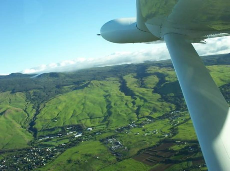 View of Waimea from the air