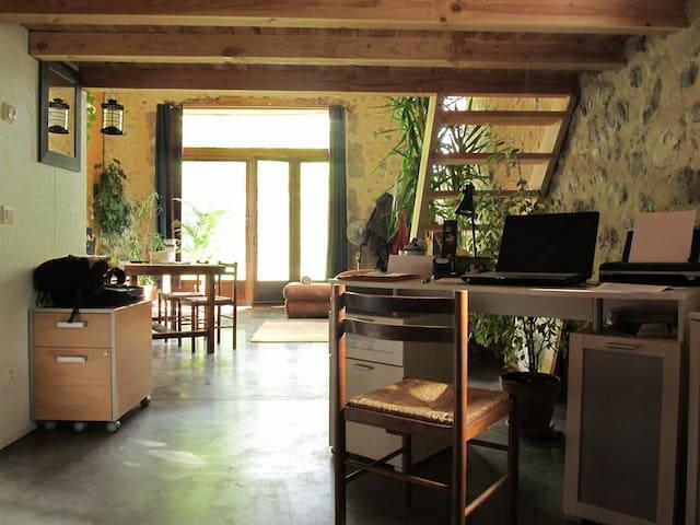 Loft de charme ancienne grange - Aix-en-Diois - Rumah