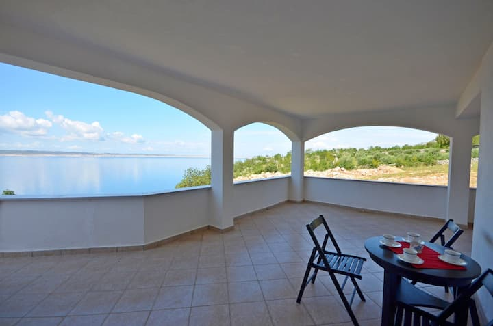One bedroom Apartment, seaside in Starigrad Paklenica, Terrace