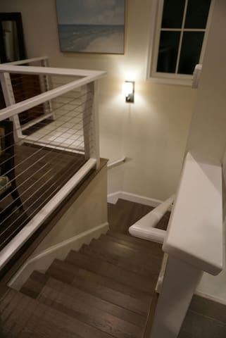 Entry stairs from above.
