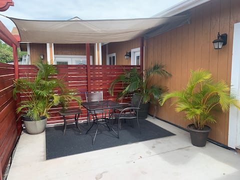 Studio with Large Private Patio!