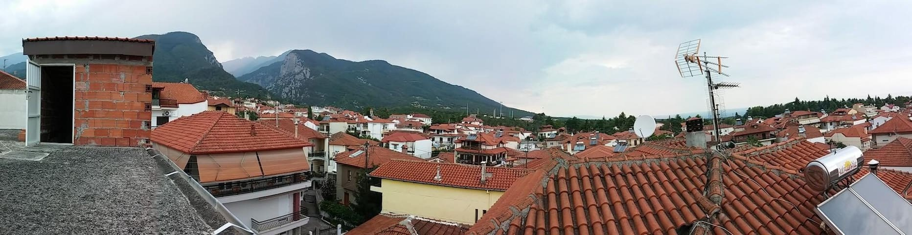 Entire flat Mt.Olympus rooftop view - Litochoro - Lejlighed