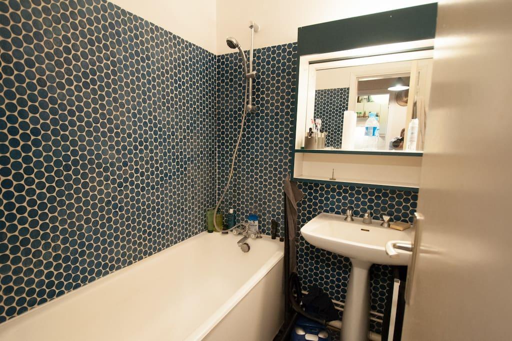 Bathroom with big bathtub