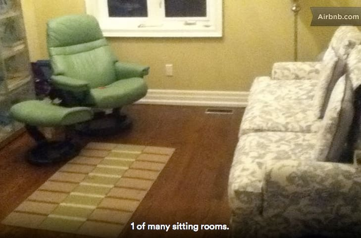 Sitting area beside Your Room, literally