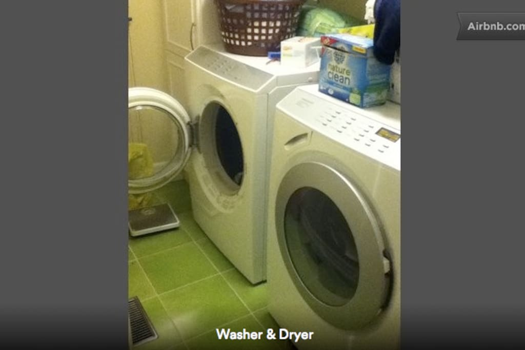 Top of the line, German manufactured dryer and washer