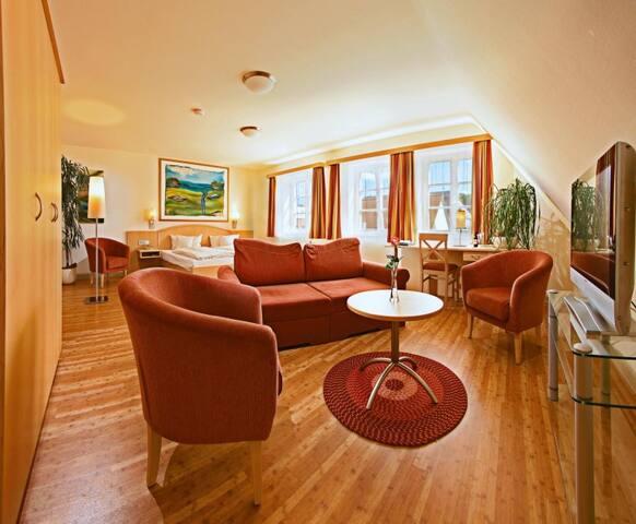 Hotel-Restaurant-Biergarten Gasthof zum Ochsen, (Ehingen/Donau), Junior Suite, 41qm, max. 2 Personen