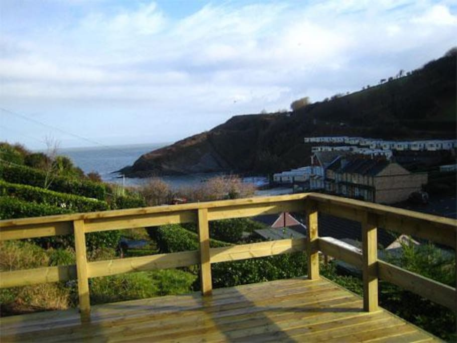 View of Hele beach from the back garden