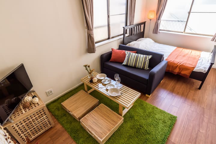 5min to SHINJYUKU relax & quiet room - Suginami - Appartement