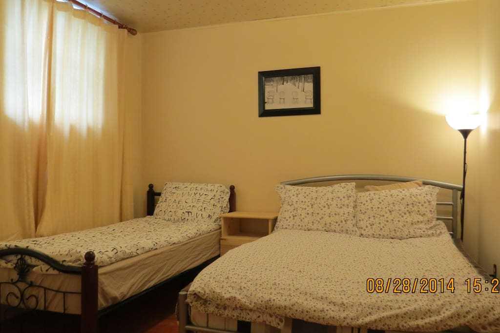 Bright Rm-1 double size bed & 1 single size bed