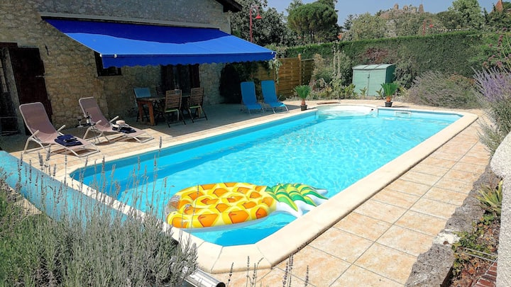 Private, exclusive pool- La Maison des Roses