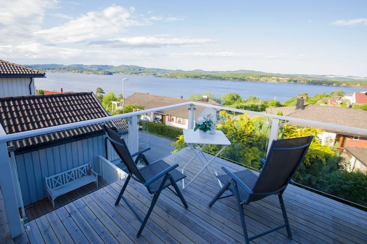 A room in a house on the sunny coast of Langesund