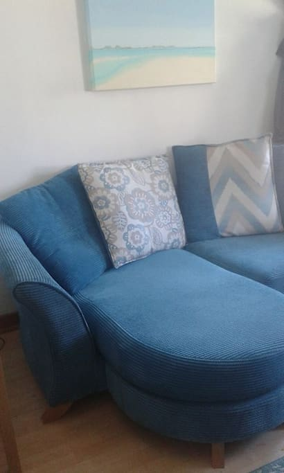 The sofa in the front room!