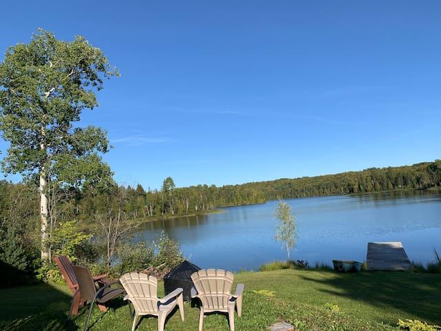 Quiétude au lac cœur