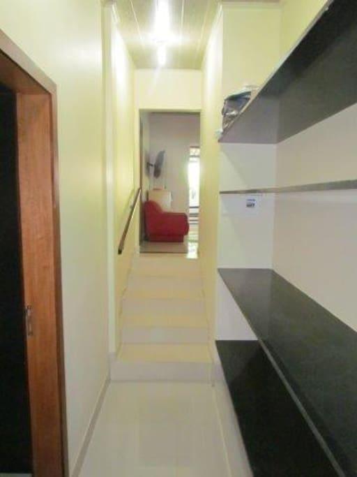 corredor de acesso para quartos