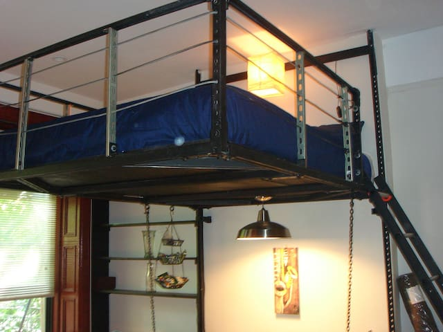 Here is that beautiful queen size loft bed