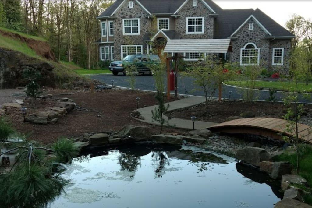 Front of House and Zen Garden