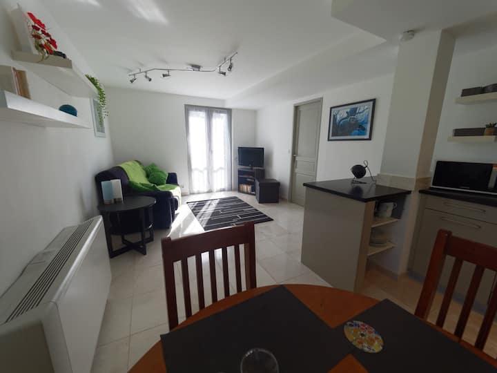Appartement de standing, calme, climatisé, parking
