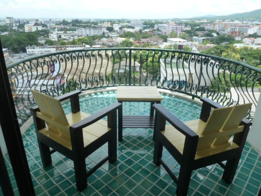Balcony with amazing view of Chiang-Mai