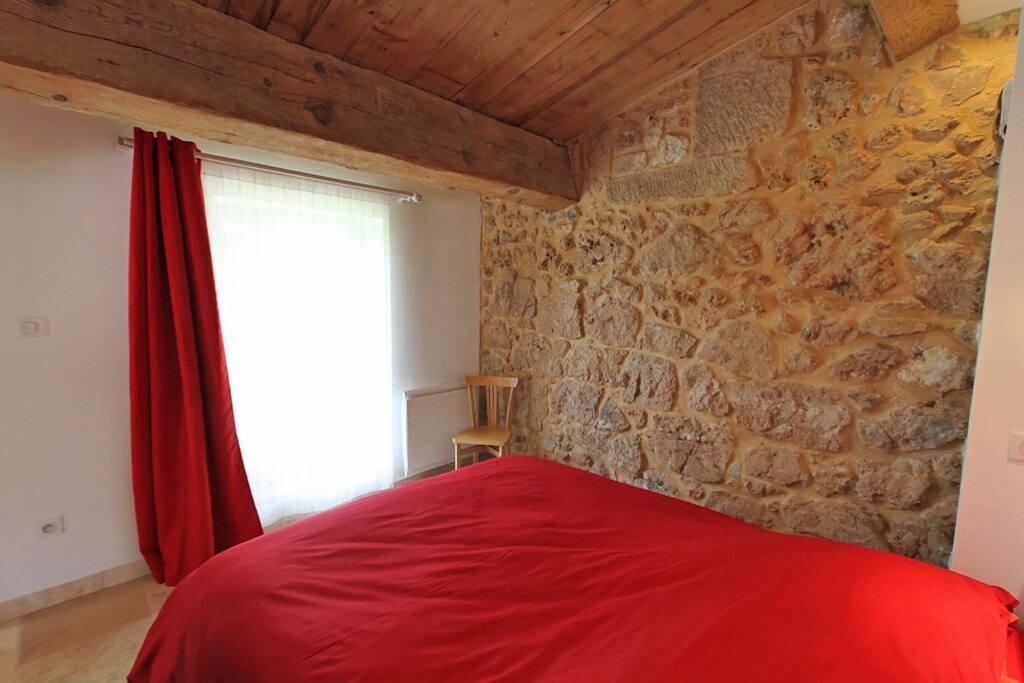 Gite Le Cottage:La Chambre avec lit en 160