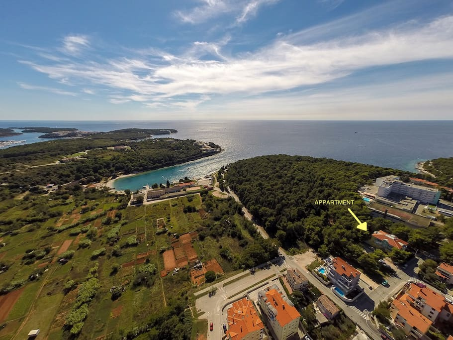 Located on most attractive part of Pula