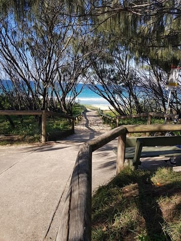 Kawana Beach 350m at the end of the street