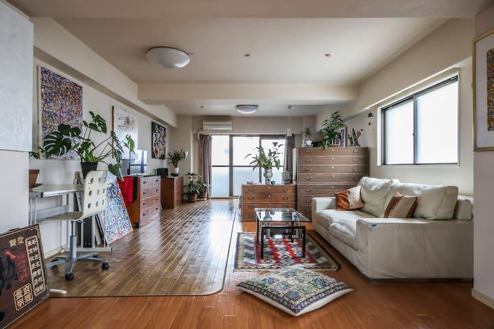 Spacious apartment near Shinjuku - Tokyo Japan - Huoneisto