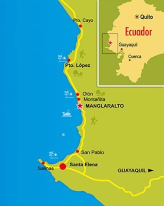 Best location in the Ruta del Sol / Ruta del Spondylus