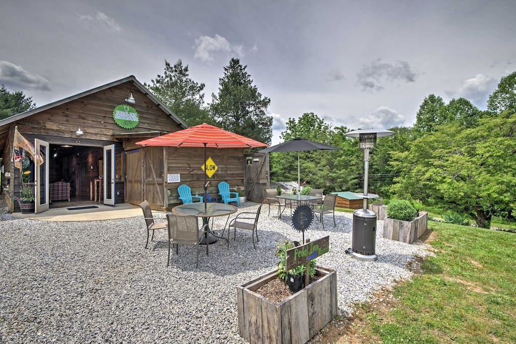 This one-of-a-kind home is a rustic horse barn that has been lovingly transformed into a charming vacation rental.