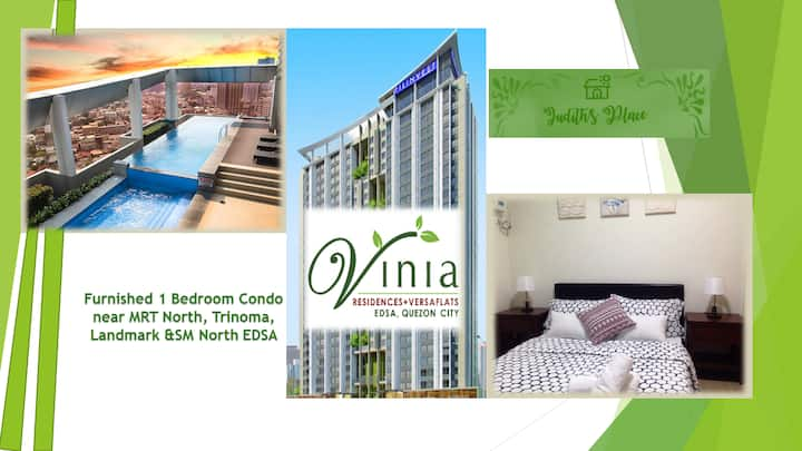 1 Bed Room Condo near MRT Stn/SM North/Trinoma
