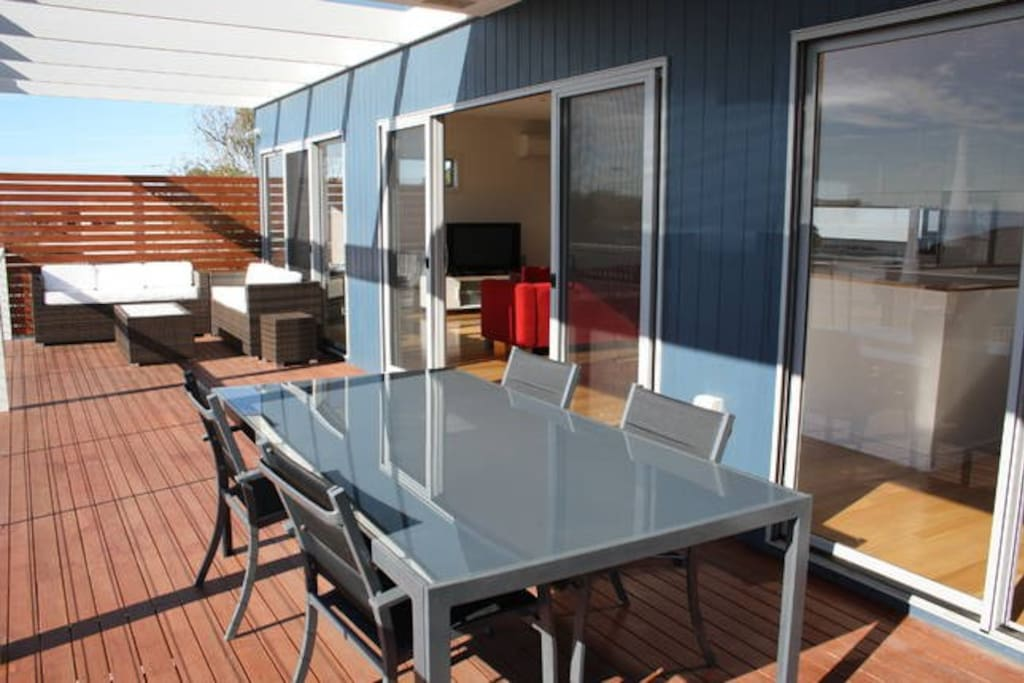 Spacious deck with BBQ